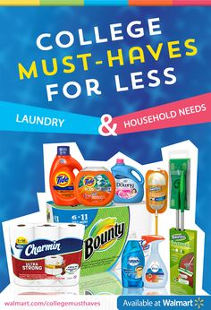 Enter the SheSpeaks Walmart #CollegeMusts Sweepstakes here: https://www.facebook.com/shespeaksup/app_515720611858523. And head to your local @walmart for all of the laundry & household #CollegeMusts.