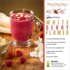 White Berry Flower #310Shake