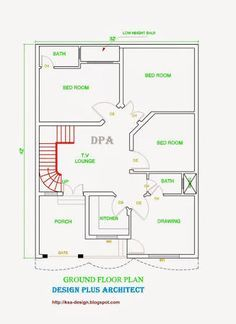 Image Result For 6 Marla Size 44 37 House Map Home Map Design House Layout Plans