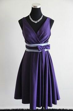 Purple Bridesmaid Dress with sash from http://www.decemberbride.co.nz/