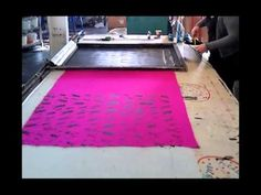 Screen Printing Scarves - YouTube