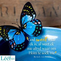 Afrikaans Quotes, Special Quotes, Printable Quotes, Christianity, Words, Van, Inspiration, Sunday School, Blessings