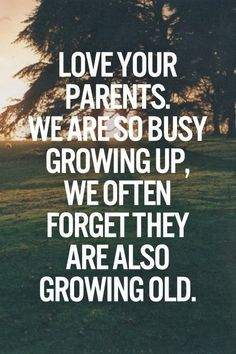 Love your parents!