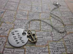 I Refuse To Sink  Hand Stamped Necklace by SeizeTheNight on Etsy, $16.00