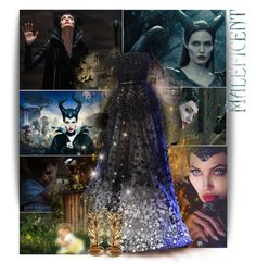 """Maleficent"" by the-forgotten-wolf ❤ liked on Polyvore featuring Disney, Once Upon a Time, Elie Saab and Giuseppe Zanotti"