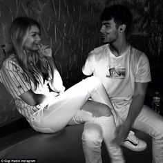 His big day: Gigi took to Instagram on Saturday to share this sweet snap of the pair, capt...
