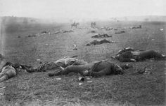 """A harvest of death"", a famous scene from the aftermath of the Battle of Gettysburg, in Pennsylvania, in July of 1863."