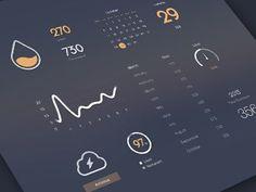 Dribbble - Managing Dashboard by Cindy Wang | UI | Design