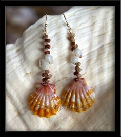 Niihau, Momi & Sunrise Shells earrings from Hawaii *;)