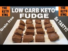 Low Carb Fudge │Keto Fudge │Only 5 Ingredients! ǀ Grain Free & Gluten Free ǀ Soft&Deliciously Smooth - YouTube