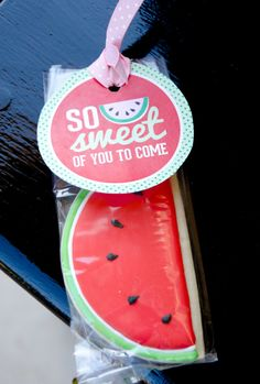 Red Watermelon Party PRINTABLE Favor Tags by Love by lovetheday