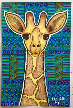 animal portraits with fabric/printing inspired backgrounds