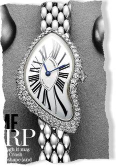 Time Warp: Watch, price upon request, Cartier; (800) CARTIER. Photograph by Jonathon Kambouris