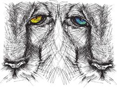 23838026-Hand-drawn-Sketch-of-a-lion-looking-intently-at-the-camera-Stock-Vector.jpg (1300×1001)