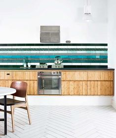 (what an amazing backsplash!)   35 Cool And Creative Kitchen Backsplashes | Shelterness