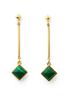 DVF Malachite Stone Drop Earring
