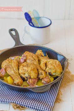 Muslos de pollo al horno, ¡tiernos y sabrosos! Baby Food Recipes, Mexican Food Recipes, Diet Recipes, Chicken Recipes, Cooking Recipes, Healthy Recipes, Pollo Chicken, Ways To Cook Chicken, Good Food
