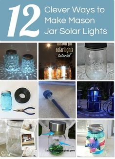 12 clever ways to make mason jar solar lights