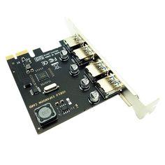 4 Port USB 3.0 PCI-E Expansion Card PCI Express PCIe USB 3.0 HUB Adapter 4-Port USB3.0 Controller USB 3 0 PCI e PCIe Express 1X Usb, Windows Xp, The Expanse, Type