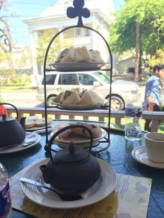 Photo of Madhatter's Tea House & Cafe - San Antonio, TX, United States. High tea tower Sunday Brunch
