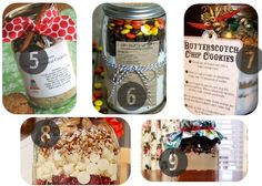 5-9 Mason jar recipes holiday gifts in a jar