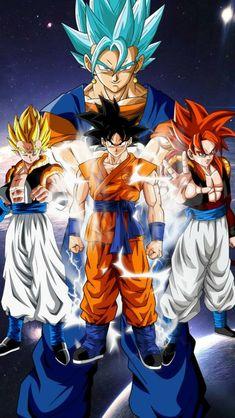 Goku, Gogeta, and Vegito