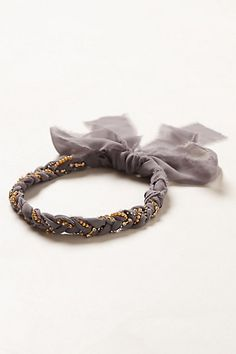 Atelier Headband #anthropologie, something like this could make a pretty belt - silk braided with beads or pearls maybe