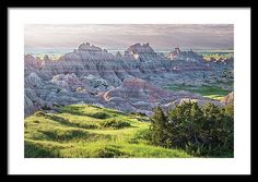 Badlands Framed Print featuring the photograph Badlands National Park Early Morning II by Joan Carroll