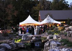 Botanical Garden of the Ozarks has everything you need for a gorgeous ceremony and reception.