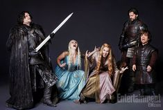 Kit Harington, Emilia Clarke, Lena Headey, Nikolaj Coster-Waldau en Peter Dinklage - The Rock Gods of Westeros