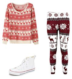 """""""Untitled #18"""" by luissaalexia on Polyvore featuring Converse, women's clothing, women, female, woman, misses and juniors"""