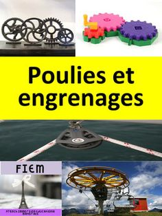 French: Sciences: Poulies et engrenages, Pulleys & Gears Pulleys And Gears, French Immersion, Social Science, Homeschool, Teacher, Education, Simple, Cards, Professor