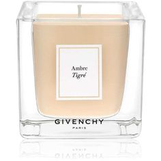 Givenchy Beauty Women's L'Atelier Ambre Tigré Candle (275 PLN) ❤ liked on Polyvore featuring home, home decor, candles & candleholders, no color, fragrance candles, vanilla bean candle, wick candles, vanilla candles and square candles