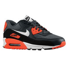 new arrivals 4a5cb 1162b nike airmax 90  Dark Grey White Anthracite Total Crimson Womens Training  Shoes
