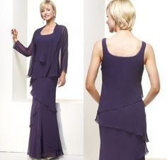 mother of the bride dresses dark silver purple | ... Jacket-Long-Sleeve-ruffles-Long-Chiffon-purple-mother-of-the-bride.jpg