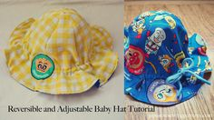 Japanese sewing patterns - Reversible Baby Hat
