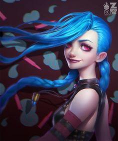 Jinx, Art, League of legends