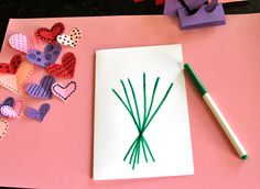 Heart bouquet craft project for kids