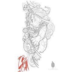 ideas tattoo arm lion foo dog for 2019 Japanese Dragon Tattoos, Japanese Tattoo Art, Japanese Tattoo Designs, Arm Tattoo, Body Art Tattoos, Tattoo Drawings, Tattoo Life, Lion Tattoo, Asian Tattoos