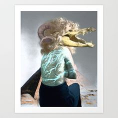 Crocola, the godess of ancient egyptian modelling! Art Print by Lazaros - $17.68