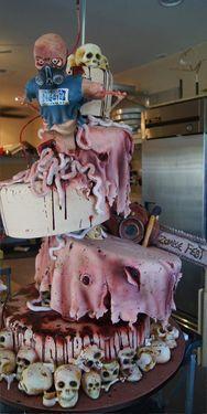 Crazy Zombie style Cake!