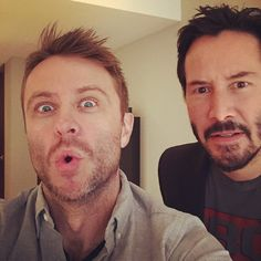 Chris Hardwick and Keanu Reeves