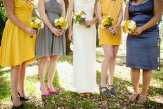 mix n match bridesmaids | CHECK OUT MORE IDEAS AT WEDDINGPINS.NET | #bridesmaids