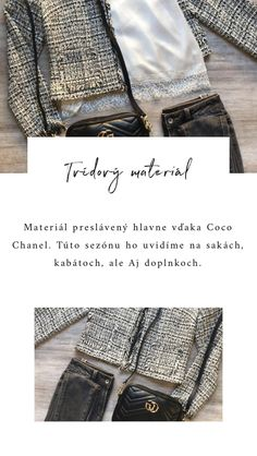 Top 6 materiálových trendov - Jeseň a Zima 2018/2019 Coco Chanel, Monogram, Michael Kors, Pattern, Tops, Fashion, Moda, Fashion Styles, Patterns
