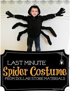 LAST MINUTE Spider Costume and Halloween Snack - Mad in Crafts