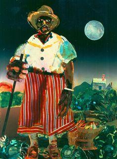 Romare Bearden, Sunset And Moonrise-Maudell Sleet by Romare Bearden - 1978