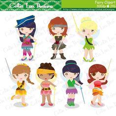 Fairy Digital Clipart/ Cute Fairy clip art for by CeliaLauDesigns, $5.00