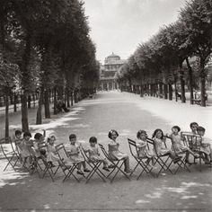 Children in the Palais-Royal Garden, c.1950 Print by Robert Doisneau at Art.com