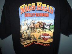 Harley-Davidson Black XL T-Shirt Nags Head North Carolina Cotton