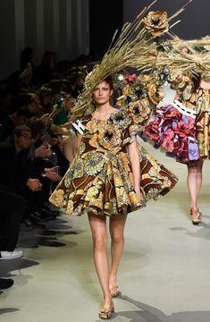Trend: African wax prints van Vlisco bij Viktor&Rolf tijdens de Fashionweek - Famme - Famme.nl